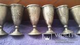 6 серебряных рюмок, фото №6