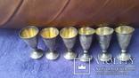 6 серебряных рюмок, фото №7
