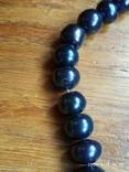 Браслет чёрный жемчуг серебро, фото №13