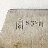 Лезвие фуганка советское новое Ширина 65 мм в смазке, фото №5