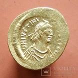 Византия: Юстиниан I (527-565) семис (2,24 г), фото №2