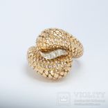 Винтажное золотое кольцо с бриллиантами, фото №2