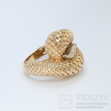Винтажное золотое кольцо с бриллиантами, фото №3