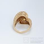 Винтажное золотое кольцо с бриллиантами, фото №4
