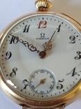 Старинные золотые часы Оmega. На ходу, фото №3