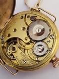 Старинные золотые часы Оmega. На ходу, фото №12