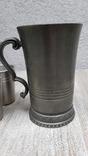 Коллекционная кружка,бокал из пищевого цинка и 2 стопки, фото №7