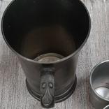 Коллекционная кружка,бокал из пищевого цинка и 2 стопки, фото №8