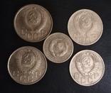 3 копейки 1949,1952,1954,1956 годов + 2 копейки 1930 года, фото №3