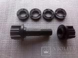 Пластмассовый болт катушки металлоискателя диаметром 10 мм. и общей длинной 52 мм.