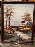 Картина в раме, пейзаж,картон,масло, фото №2