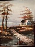 Картина в раме, пейзаж,картон,масло, фото №5
