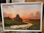 Картина в раме пейзаж,холст,масло автор Чернышенко, фото №2