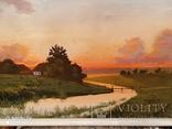 Картина в раме пейзаж,холст,масло автор Чернышенко, фото №6