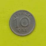 Швеція 10 ере, 1940 Нікелева бронза, GV на аверсі, фото №2