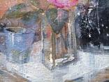 Картина «Голубая чашка». Художник Ellen ORRO. Холст на картоне/акрил. 30х24, 2019 г. фото 5
