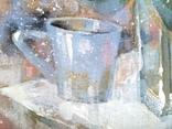 Картина «Голубая чашка». Художник Ellen ORRO. Холст на картоне/акрил. 30х24, 2019 г. фото 8