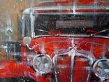 Картина «Красное авто» Художник Ellen ORRO холст/картон/акрил. 40х40 2020 г. фото 4