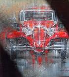 Картина «Красное авто» Художник Ellen ORRO холст/картон/акрил. 40х40 2020 г. фото 7