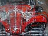 Картина «Красное авто» Художник Ellen ORRO холст/картон/акрил. 40х40 2020 г. фото 8