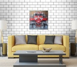 Картина «Красное авто» Художник Ellen ORRO холст/картон/акрил. 40х40 2020 г. фото 9
