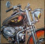 Картина «Harley-Davidson». Художник Ellen ORRO. джут/акрил. 50х50, 2019 г. фото 2