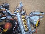 Картина «Harley-Davidson». Художник Ellen ORRO. джут/акрил. 50х50, 2019 г. фото 5