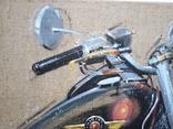 Картина «Harley-Davidson». Художник Ellen ORRO. джут/акрил. 50х50, 2019 г. фото 6