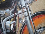 Картина «Harley-Davidson». Художник Ellen ORRO. джут/акрил. 50х50, 2019 г. фото 8