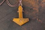 Амулет з кості ,,Молот тора,,, фото №4