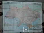 Карта етнічного складу населення України Київ 1966 В.І.Наулко, фото №2