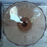 Ваза для фруктов ,цветное стекло Ф21 см, фото №5