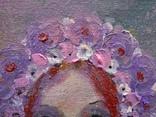 Картина «Фиолетовый цвет». Художник Ellen ORRO. холст/картон/акрил. 15х20, 2020 г. фото 3