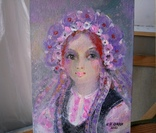 Картина «Фиолетовый цвет». Художник Ellen ORRO. холст/картон/акрил. 15х20, 2020 г. фото 4