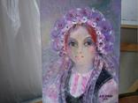 Картина «Фиолетовый цвет». Художник Ellen ORRO. холст/картон/акрил. 15х20, 2020 г. фото 5