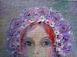 Картина «Фиолетовый цвет». Художник Ellen ORRO. холст/картон/акрил. 15х20, 2020 г. фото 6