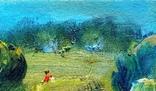 Картина «Тропинка». Художник Ellen ORRO. картон/масло 15х15, 2018 г. фото 4