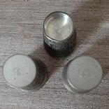 Коллекционные стопки из пищевого цинка,3 шт, Германия, фото №5