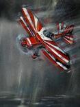 Картина «Лучи». Серия «Авиа». Художник Ellen ORRO. холст на картоне./акрил. 50х70, 2019 г. фото 3
