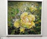 Картина «Лучистая роза». Художник Ellen ORRO холст/акрил, 25.5х25.5, 2001 г. фото 2