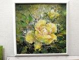 Картина «Лучистая роза». Художник Ellen ORRO холст/акрил, 25.5х25.5, 2001 г. фото 3
