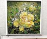 Картина «Лучистая роза». Художник Ellen ORRO холст/акрил, 25.5х25.5, 2001 г. фото 4