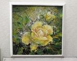 Картина «Лучистая роза». Художник Ellen ORRO холст/акрил, 25.5х25.5, 2001 г. фото 5