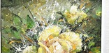 Картина «Лучистая роза». Художник Ellen ORRO холст/акрил, 25.5х25.5, 2001 г. фото 6