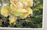 Картина «Лучистая роза». Художник Ellen ORRO холст/акрил, 25.5х25.5, 2001 г. фото 8