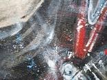 Картина «Харлей-Девидсон». Художник Ellen ORRO джут/акрил, 65х55, 2017 г. фото 8
