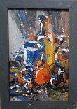 Картина «Натюрморт «Блики». Художник Ellen ORRO. дерево/акрил, 19.5х29.5, 1994 г.