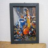 Картина «Натюрморт «Блики». Художник Ellen ORRO. дерево/акрил, 19.5х29.5, 1994 г. фото 2