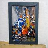 Картина «Натюрморт «Блики». Художник Ellen ORRO. дерево/акрил, 19.5х29.5, 1994 г. фото 3