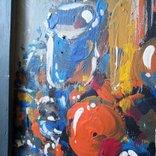 Картина «Натюрморт «Блики». Художник Ellen ORRO. дерево/акрил, 19.5х29.5, 1994 г. фото 6